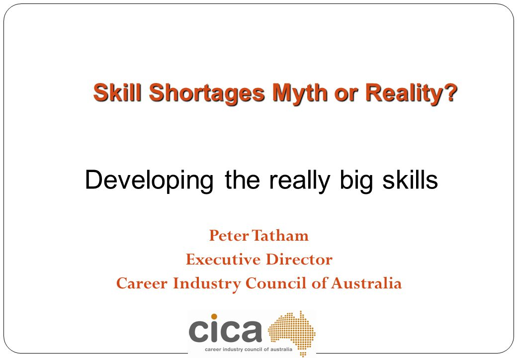 Peter Tatham Executive Director Career Industry Council of Australia