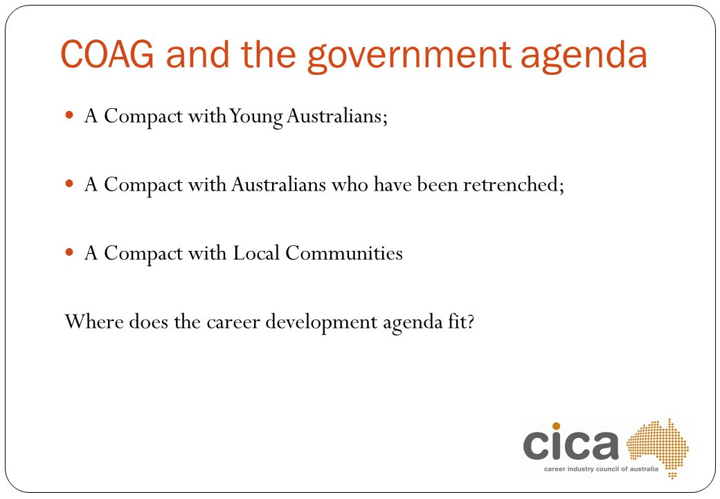 COAG and the government agenda