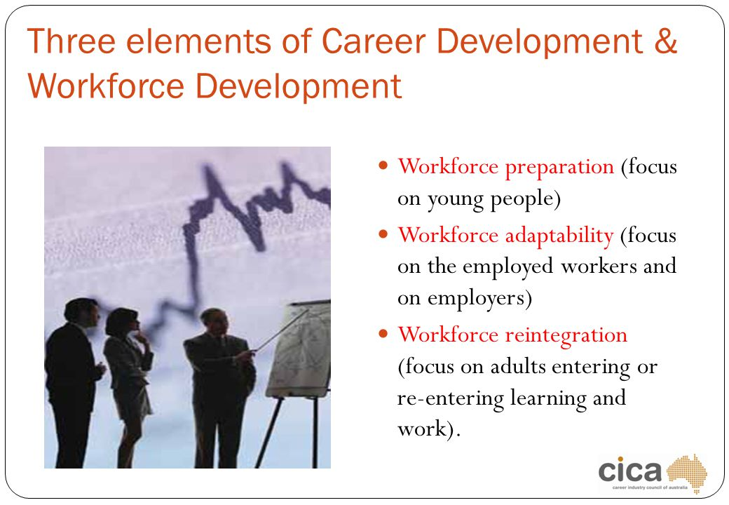 Three elements of Career Development & Workforce Development