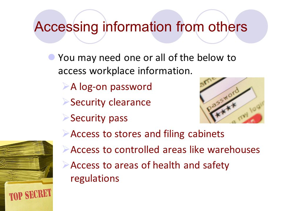 Accessing information from others