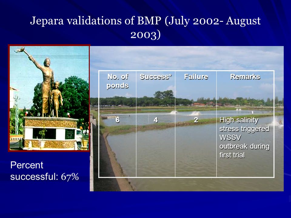 Jepara validations of BMP (July 2002- August 2003)
