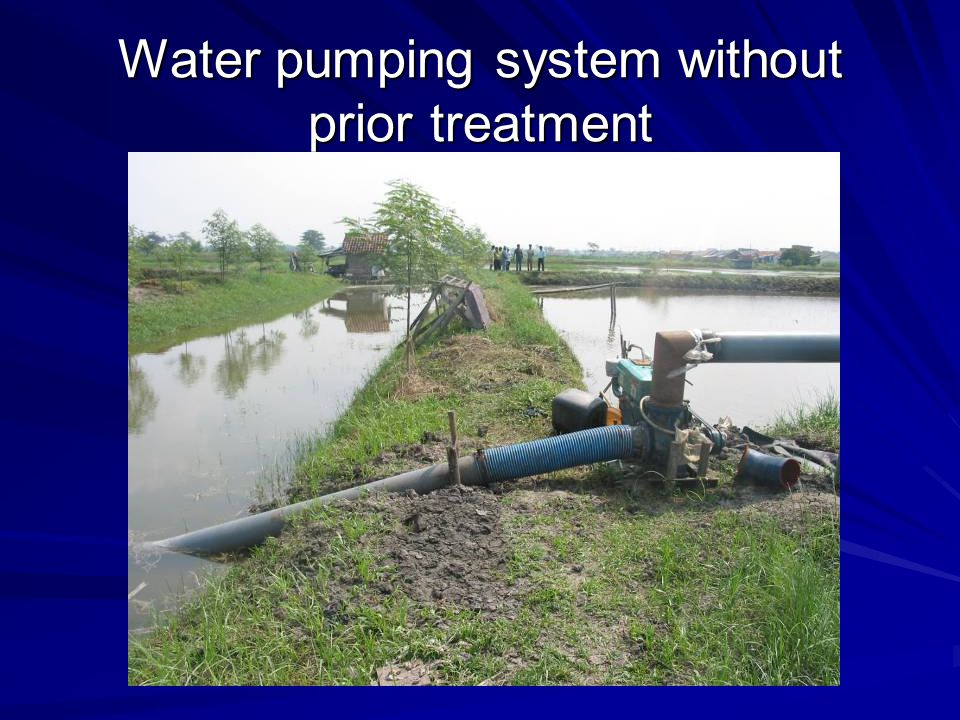 Water pumping system without prior treatment