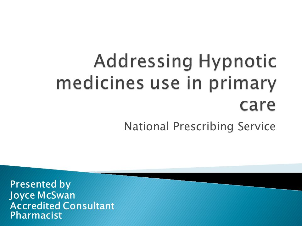 Addressing Hypnotic medicines use in primary care
