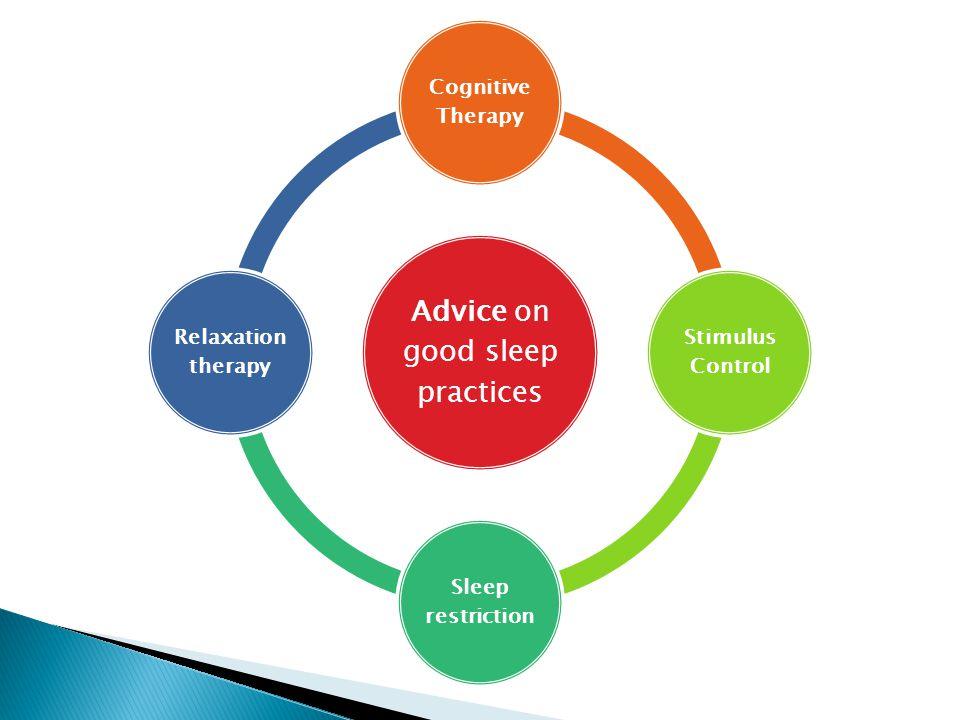 Advice on good sleep practices
