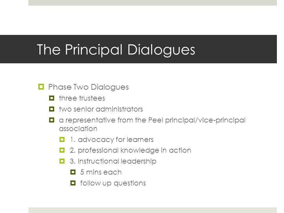 The Principal Dialogues