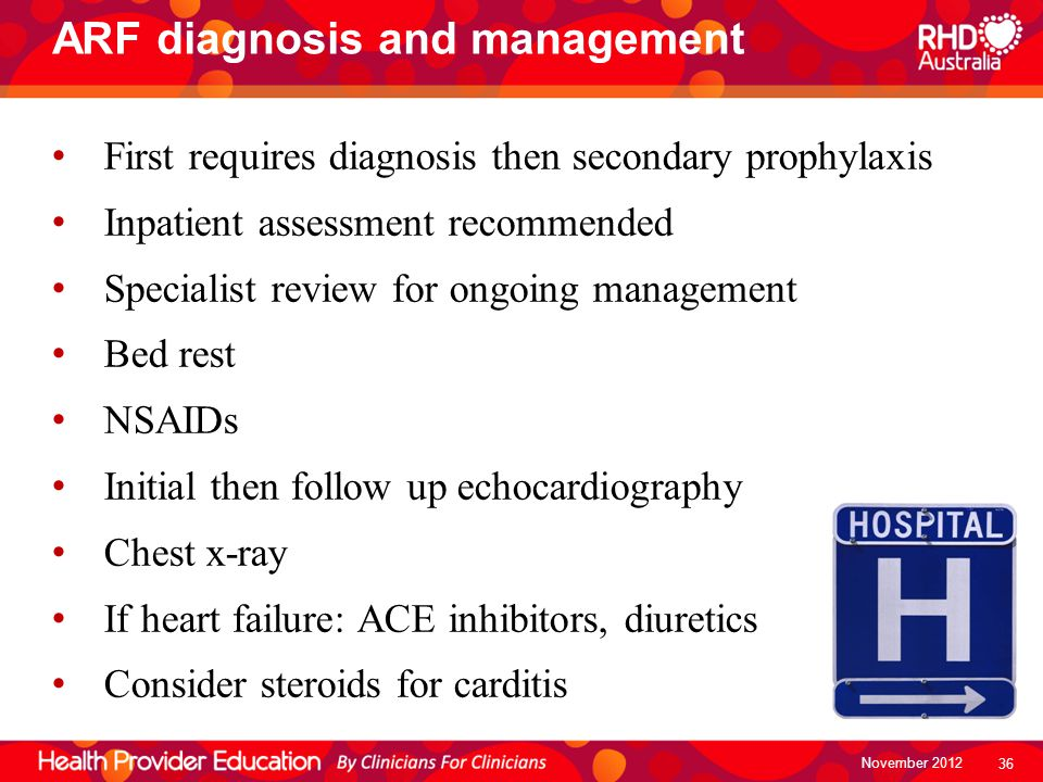 ARF diagnosis and management