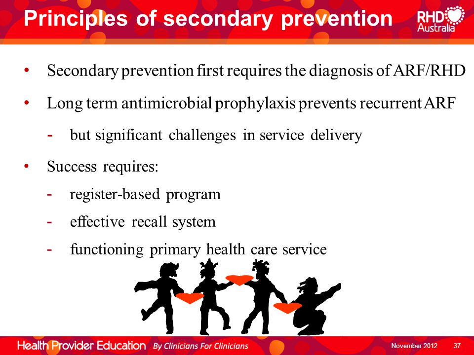 Principles of secondary prevention