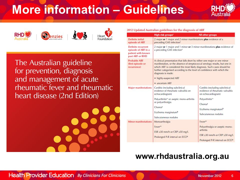 More information – Guidelines