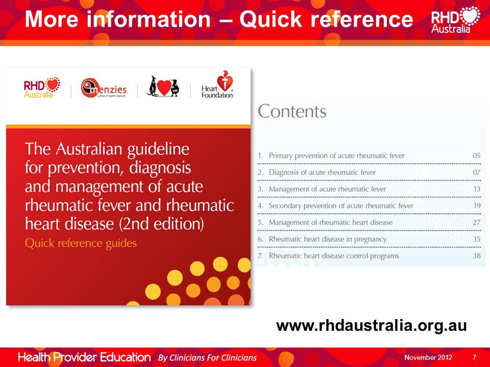 More information – Quick reference