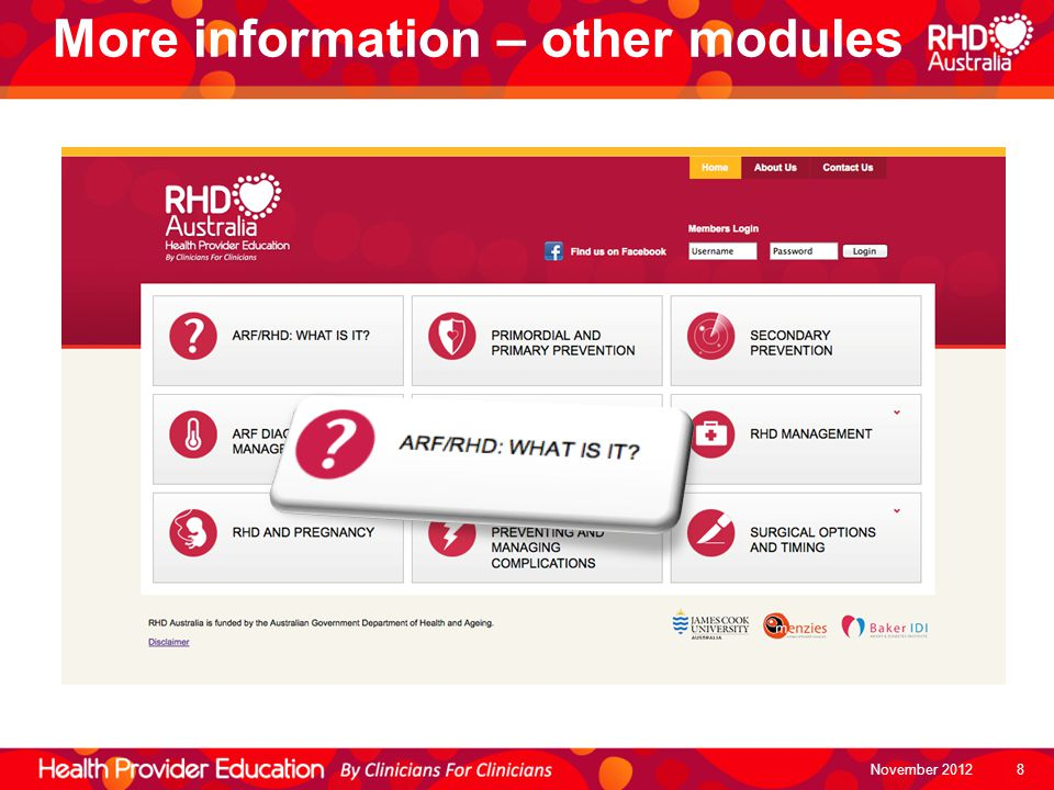 More information – other modules
