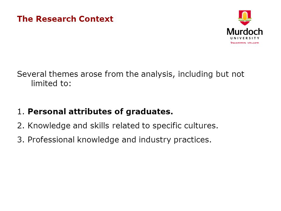 The Research Context