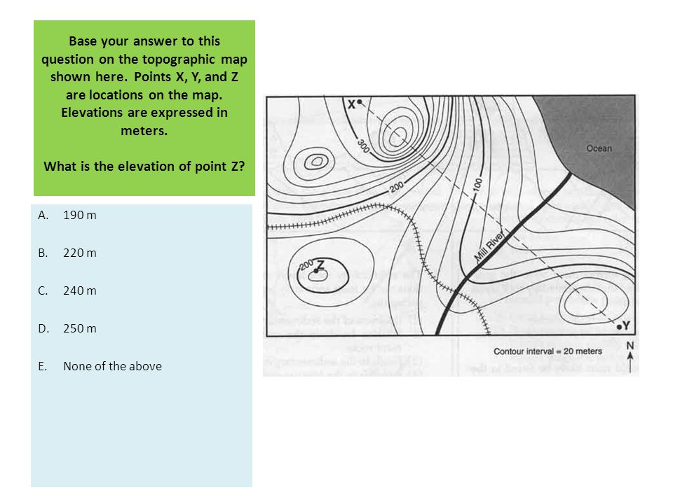 Base your answer to this question on the topographic map shown here