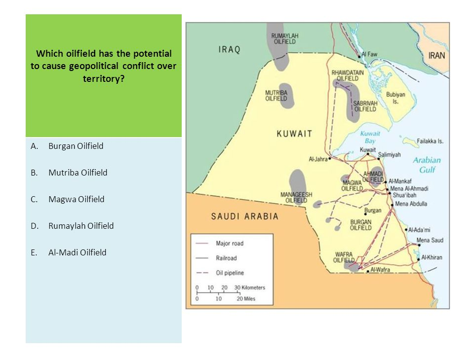 Which oilfield has the potential to cause geopolitical conflict over territory