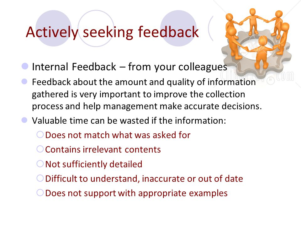 Actively seeking feedback