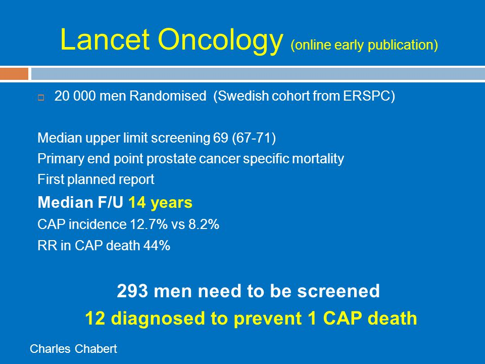 Lancet Oncology (online early publication)