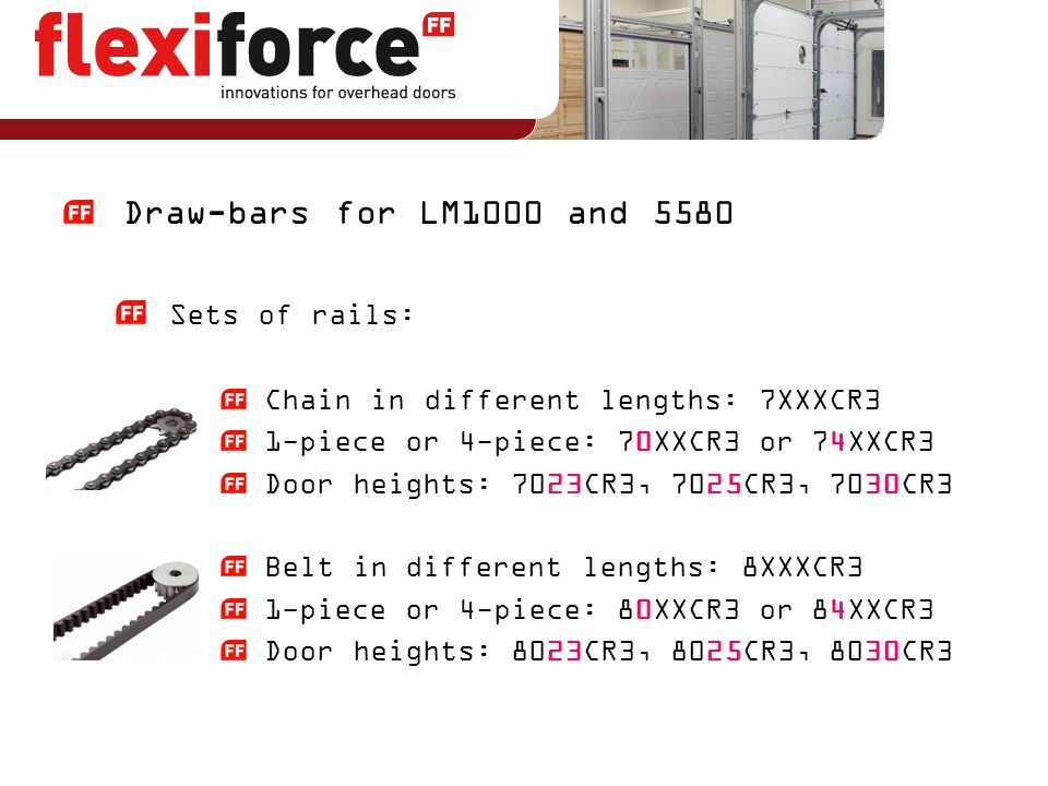 Draw-bars for LM1000 and 5580 Sets of rails: