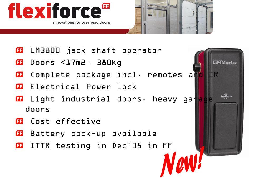 New! LM3800 jack shaft operator Doors <17m2, 380kg