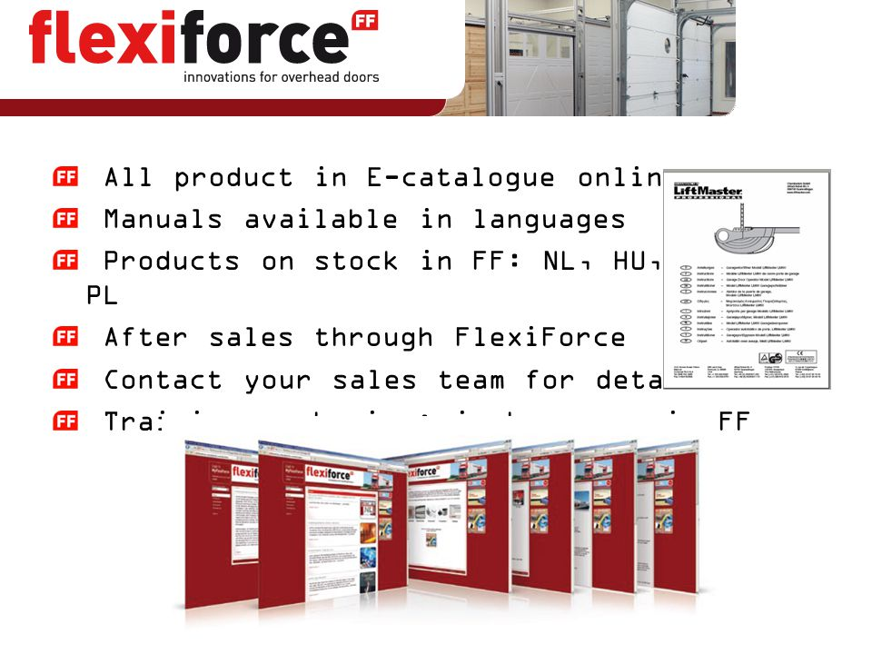 All product in E-catalogue online Manuals available in languages