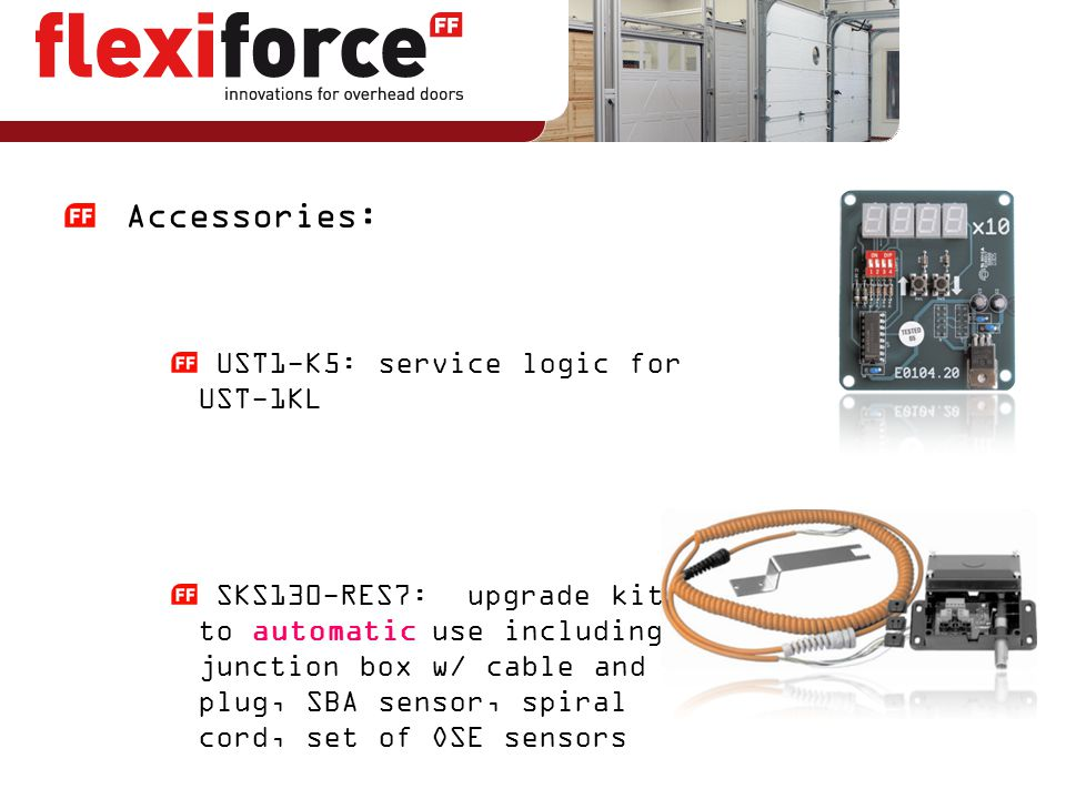 Accessories: UST1-K5: service logic for UST-1KL