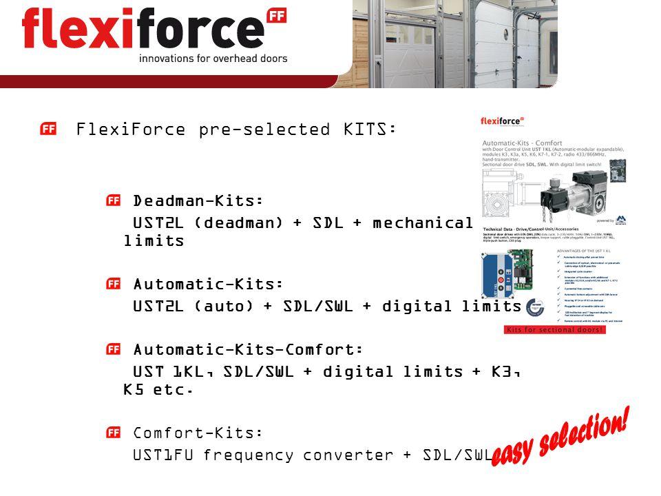 easy selection! FlexiForce pre-selected KITS: Deadman-Kits: