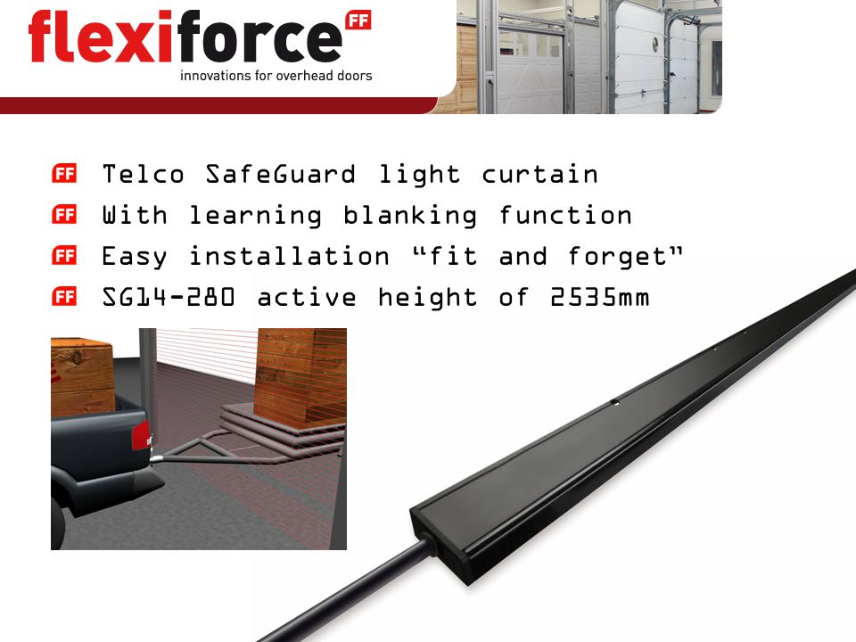 Telco SafeGuard light curtain With learning blanking function