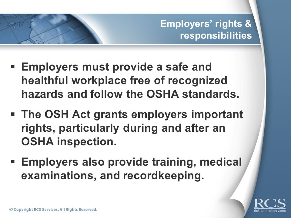 Employers' rights & responsibilities