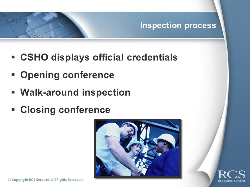 CSHO displays official credentials Opening conference