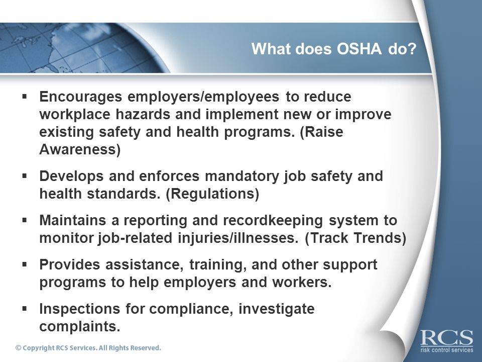 What does OSHA do