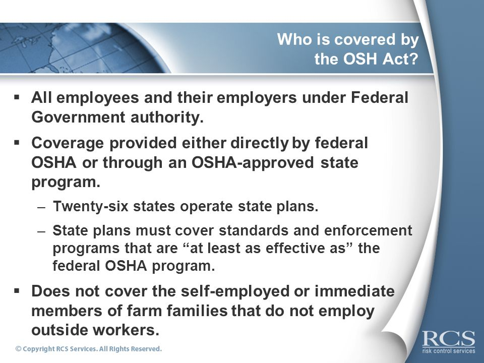 Who is covered by the OSH Act