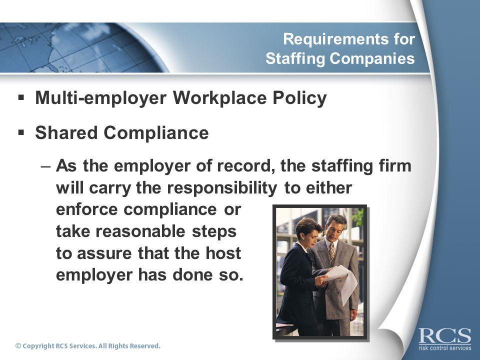 Requirements for Staffing Companies