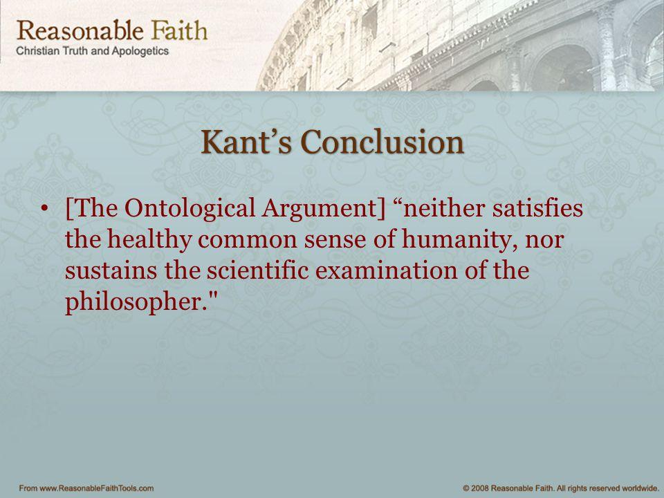 Kant's Conclusion