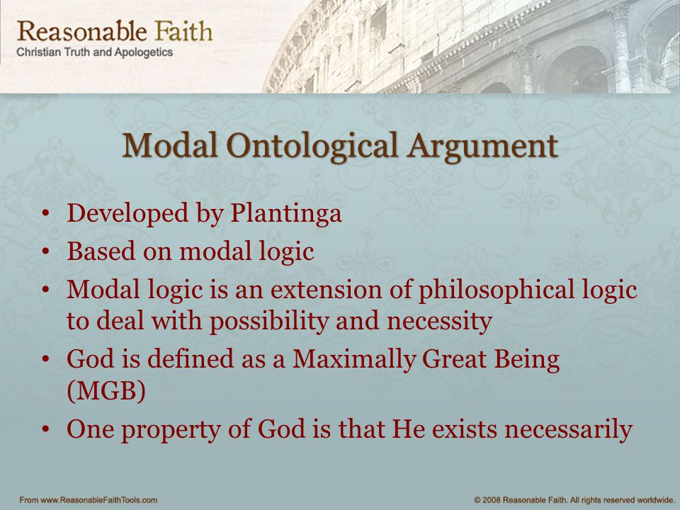 Modal Ontological Argument