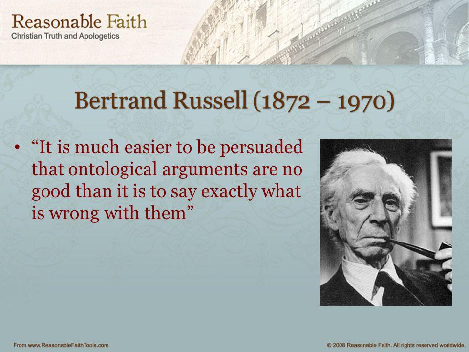 Bertrand Russell (1872 – 1970)