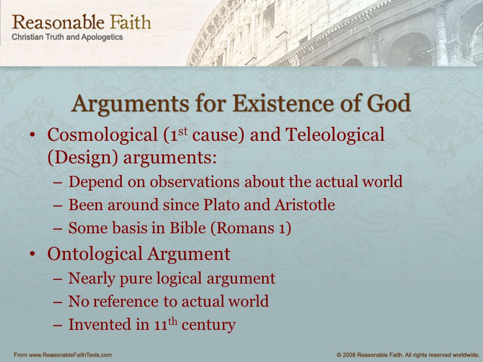 explain the cosmological argument for the existence of god essay
