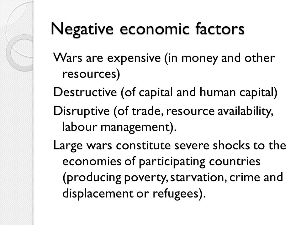 Negative economic factors