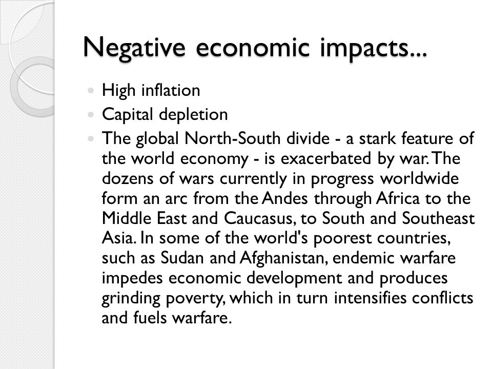 Negative economic impacts...