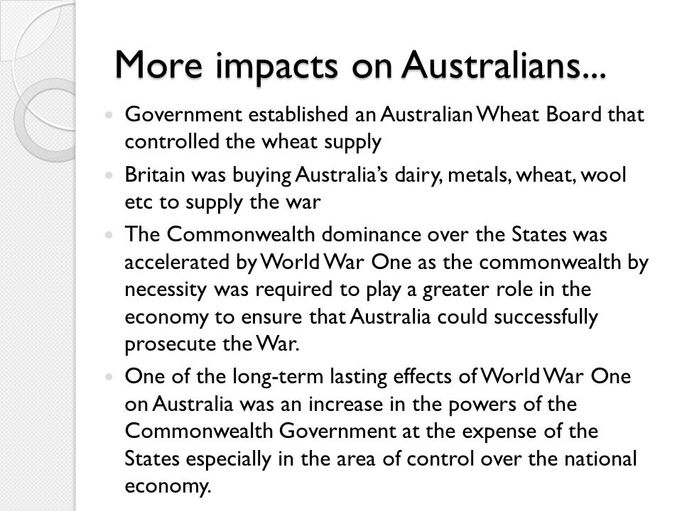More impacts on Australians...