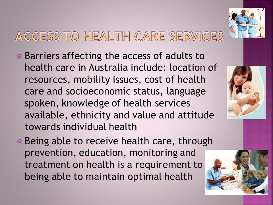 Access to health care services