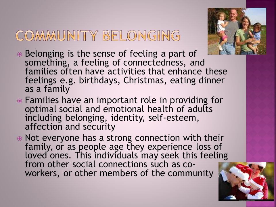 Community belonging