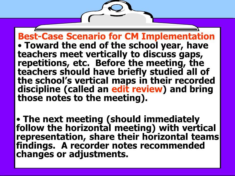 Best-Case Scenario for CM Implementation