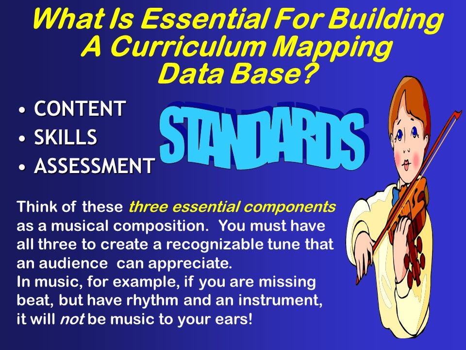 What Is Essential For Building A Curriculum Mapping Data Base