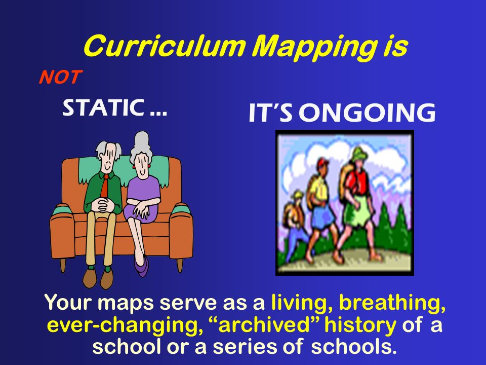 Curriculum Mapping is IT'S ONGOING STATIC …