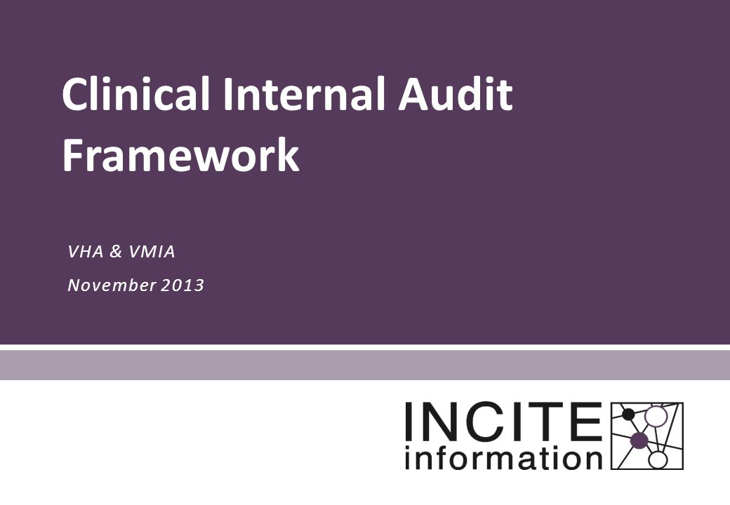 Clinical Internal Audit Framework