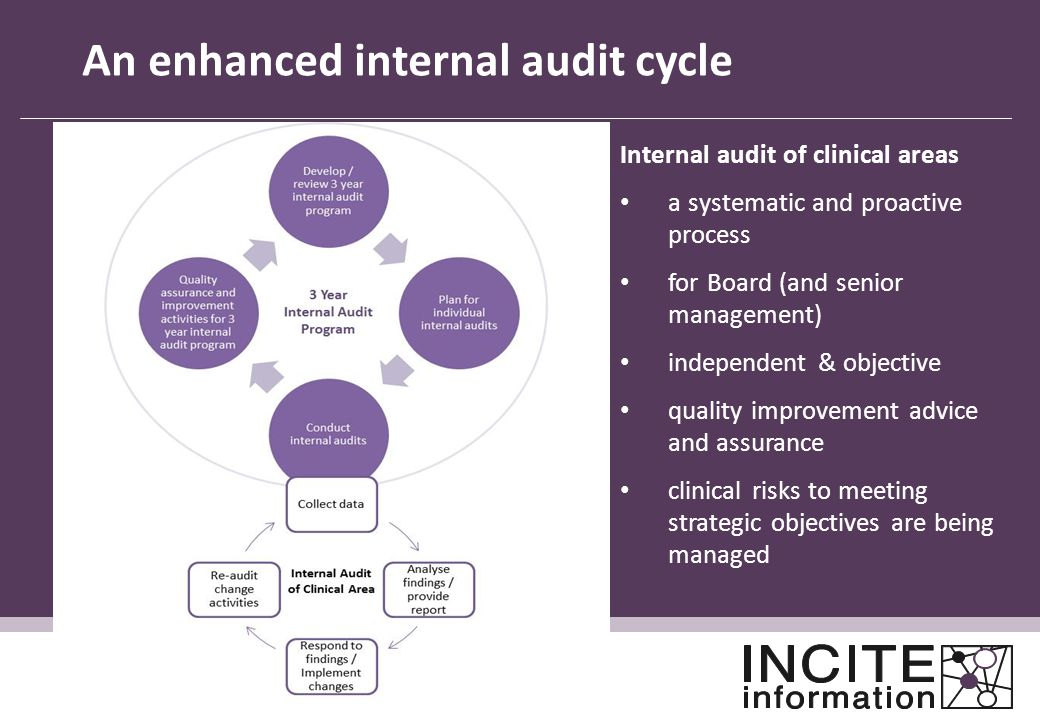 An enhanced internal audit cycle