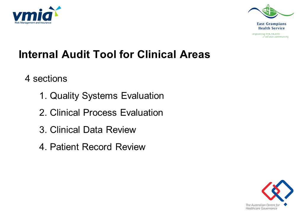 Internal Audit Tool for Clinical Areas