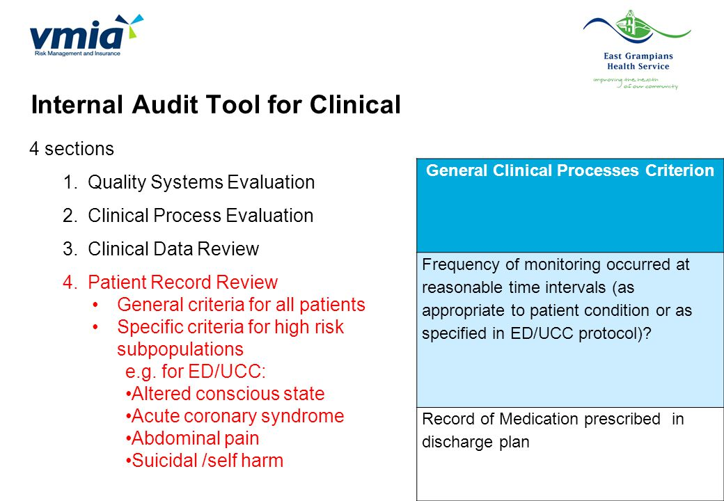General Clinical Processes Criterion