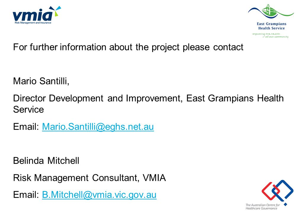 For further information about the project please contact