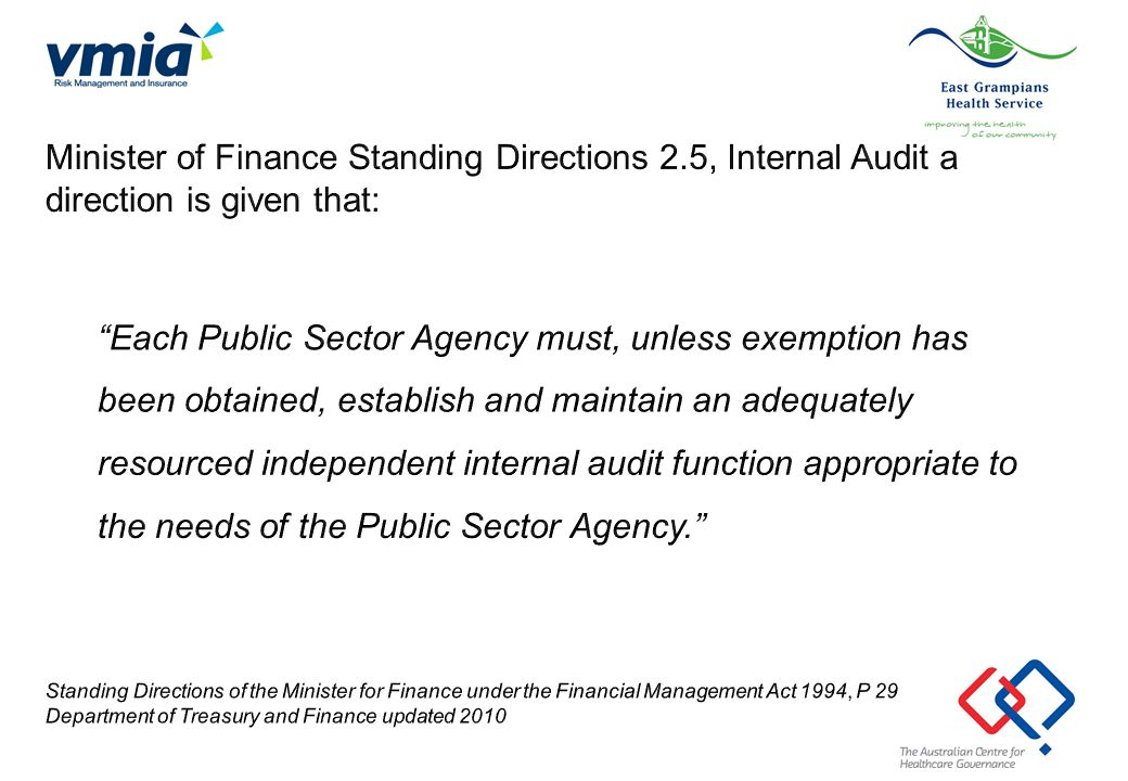 Minister of Finance Standing Directions 2