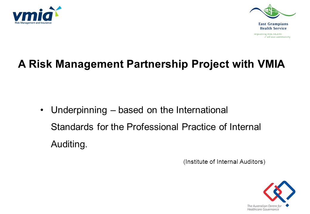A Risk Management Partnership Project with VMIA