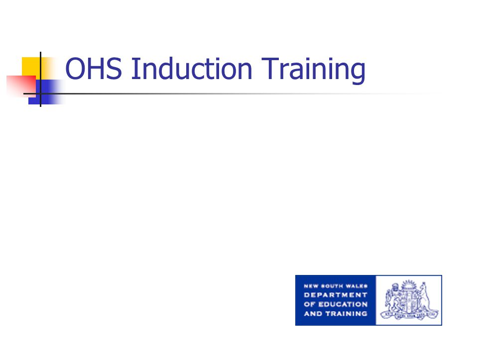 OHS Induction Training
